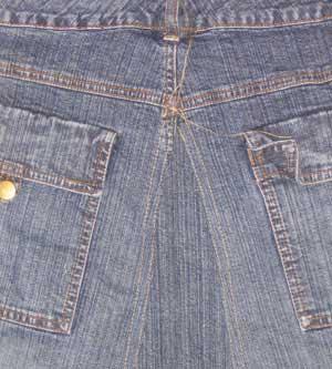 jean skirt sewing pattern