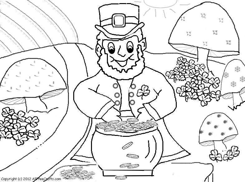 Coloring Page Of A Leprechaun Titlermedicin Website