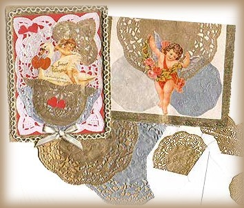 Craft Ideas Doilies on Consist Only Of Cut Outs From Paper Doilies And A Victorian Vignette